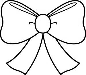 Cute Bow Coloring Page - Free Clip Art