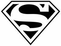 White Superman Logo