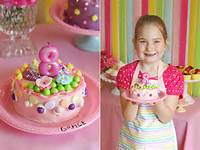 Girls Birthday Party Cake Decorating