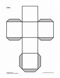 Cube 3D Shape Templates Printable