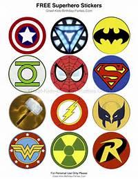 Superhero Logo Printables Free