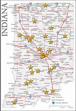 Indiana Map With Cities