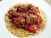 Italian Food Spaghetti And Meatballs