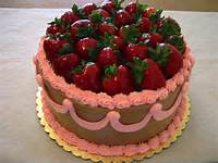 Happy Birthday Cake With Strawberries