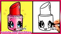 How To Draw Cartoon Lipstick