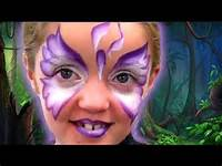 One Stroke Butterfly Face Painting Tutorial