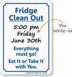 To Clean Out Refrigerator Sign Fridge