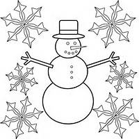 Snowflake And Snowman Coloring Pages