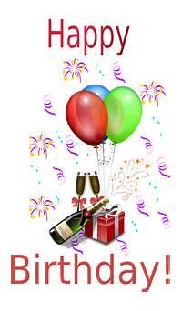 Happy Birthday Champagne Clip Art