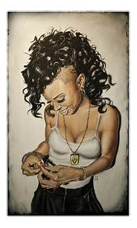 Black Girl With Swag Drawing