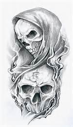 Skull Reaper Tattoo Drawings Designs