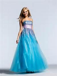 Long Blue Prom Dresses