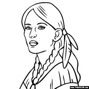 Sacagawea Coloring Page