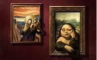 Funny Mona Lisa Paintings