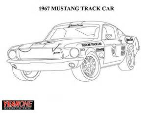 1964 ford mustang colouring pages