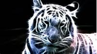 Neon White Tiger