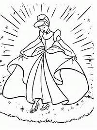 Cinderella Coloring Pages Print Out