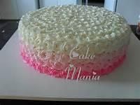Cake Mania Bolo Degrade Rosa Glacê De Leite Em Pó