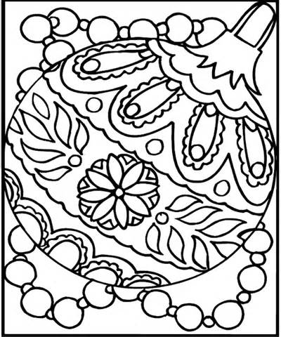 Christmas Coloring Page - Ornament