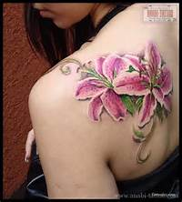 Pink Stargazer Lily Tattoo