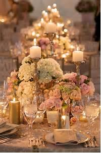 Pink And Gold Wedding Centerpiece