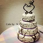 White Camo Wedding Cakes