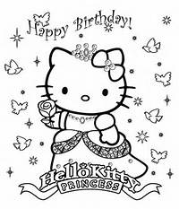 Hello Kitty Princess Coloring Page To Print