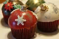 Cupcakes Esferas De Navidad