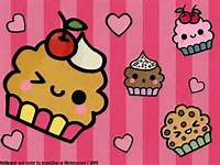 Kawaii Cute Cartoon Cupcakes