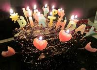 Happy Birthday Chocolate Cake Candles