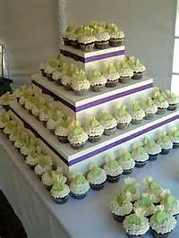 Square Cupcake Wedding Cake