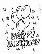 Happy Birthday Balloons Coloring Pages Printable
