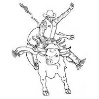 Bucking Bull Coloring Pages