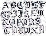 Tattoo Fonts Alphabet Letters