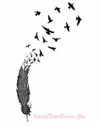 Feather Birds Tattoos