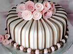 Pink And Brown Fondant Cake