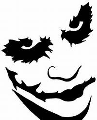 Batman Joker Pumpkin Carving Stencils