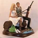 Fishing Hunting Wedding Cake Topper