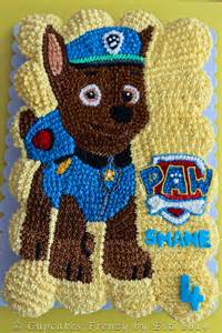 Chase PAW Patrol Cupcakes