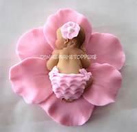 Fondant Flower Cake Topper Baby