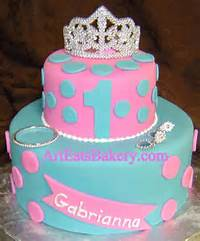 Blue Princess Birthday Cakes For Girls