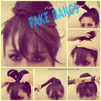 Fake Bun With Bangs