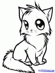 How to Draw a Cute Anime Cat, Step by Step, anime animals, Anime, Draw ...
