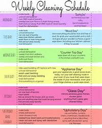 Weekly Cleaning Schedule Chart