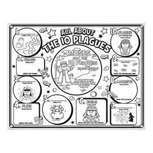 10 Plagues And Moses Coloring Page on 10 Plagues Coloring Book Pages