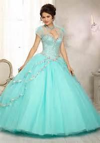 Aqua Quinceanera Dress