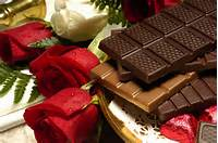 Valentines Day Chocolate And Roses
