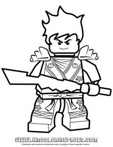 Ninjago Kai KX In Elemental Robe Coloring Page