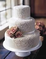 Simple Lace Wedding Cake