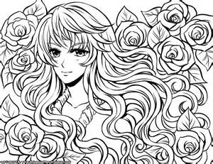 Anime Coloring Pages | SelfColoringPages.com